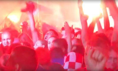 Kroatiassa nähtiin valtaisa kansanjuhla maan kaadettua Englannin jalkapallon MM-kisojen välierässä.
