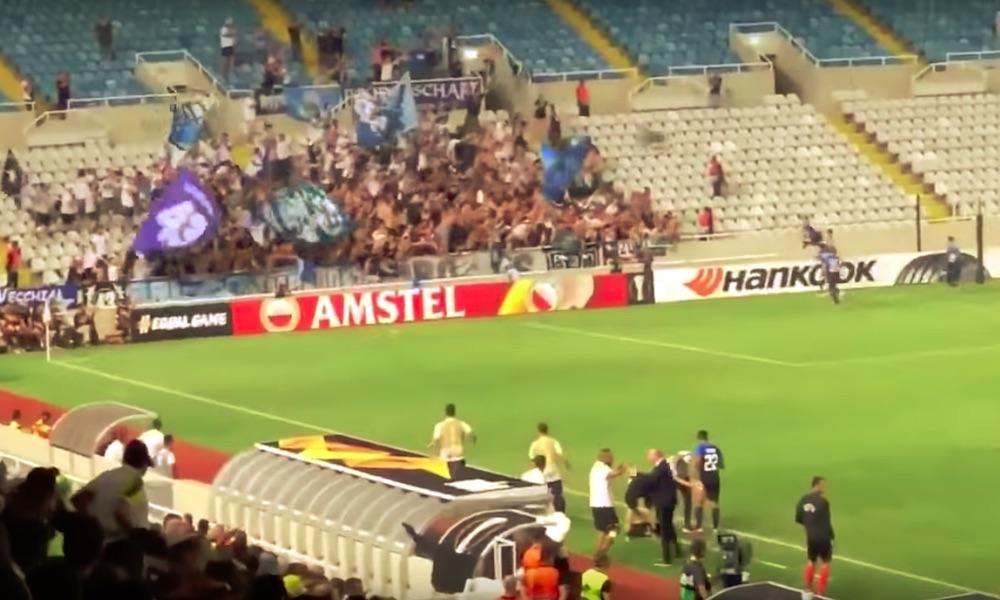FC Zurichin Benjamin Kololli juhli maalia, kiitos hänen erinomaisen rankkarinsa, mutta hänen tuuletuksensa ei sujunut yhtä hyvin.