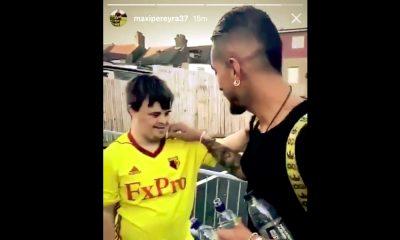 Roberto Pereyra yllätti nuoren fanin voitokkaan Tottenham-ottelun jälkeen.