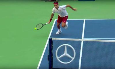Roger Federer suoritti US Openissa maagisen lyönnin.