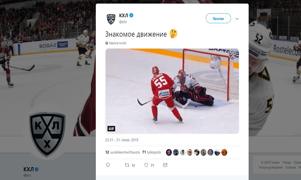 Miro Aaltoselta aivan huikea rankkarimaali KHL:ssä.