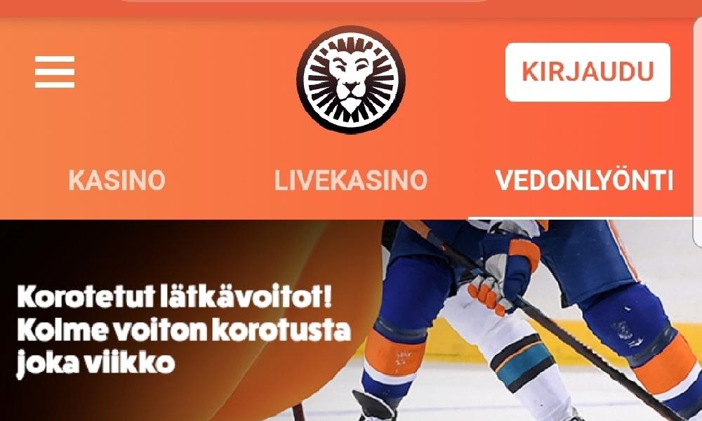 LeoVegasilta korotettu kerroin 5 Mikko Rantasen pisteelle.