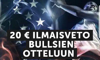 Betsafelta 20 euron ilmaisveto Bullsien otteluun Cavsia vastaan.