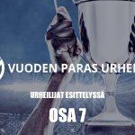 Urheiluvedot.com:n Vuoden Paras Urheilija -ehdokkaat esitellään kymmenosaisessa sarjassa - tämä on osa 7.