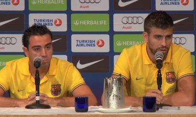 Gerard Pique ja Xavi mukana Katalonian joukkueessa Venezuelaa vastaan.