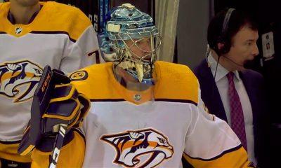 Fanit surullisina Pekka Rinteen puolesta, jonka hiekka tiimalasissa Stanley Cup -voiton suhteen käy vähiin; Nashville Predators putosi Dallas Starsia vastaan 1. kierroksella.