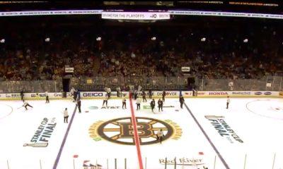 Bostonin treeneissä mieletön meno: TD Garden täyttyi Bruins-faneista Stanley Cup -finaalien alla.
