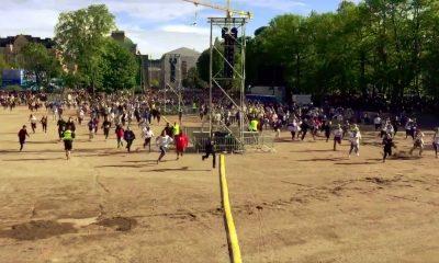 Kun portit Leijonien kultajuhliin avattiin Kaisaniemessä, käynnistyi siitä tuhansien suomalaisfanien kaaosmainen kilpajuoksu lavan läheisyyteen.