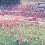 Pippurisumutteet ei estänyt kannattajia, kun Mallorca juhli myöhään sunnuntai iltana Espanjan korkeimalle sarjatasolle nousua.