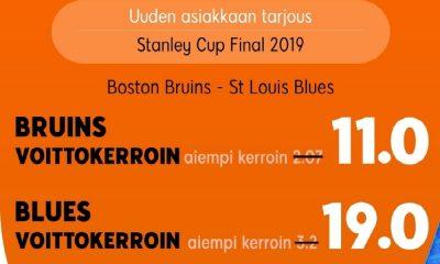Superkertoimet Game Seveniin Boston Bruins - St. Louis Blues.