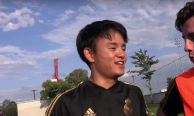 Real Madridin superlupaus loistaa harjoituksissa. JapanilainenTakefusa Kuboon näyttänyt häikäilemättömiä taitojaan seuran harjoituksissa.