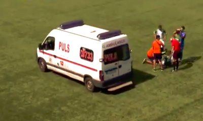 Romanialaispelaajalta murtui solisluu: Ionut Paun joutui kuitenkin odottaa pitkään hoitoon pääsyä, kiitos ambulanssikuskin sekoilun.