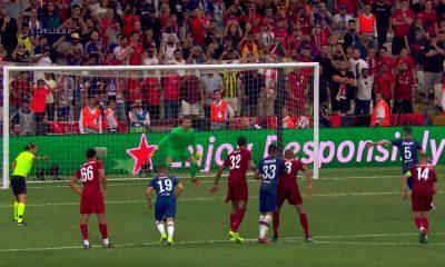 Chelsean Jorginhon nimi paidassa oli väärin, kun lontoolaisseura hävisi rankkareilla UEFA Super Cupin finaalin Liverpoolille.
