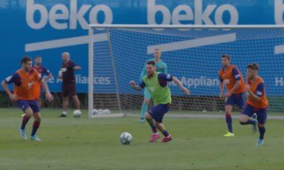 Lionel Messi palasi mukaan joukkueen harjoituksiin.