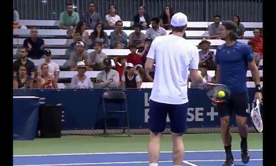 SkotlantilaisenAndy Murrayn nelinpelikaverilta nolo moka - johti vastapuolen syötönmurtoon ATP-turnauksessa Montrealissa.