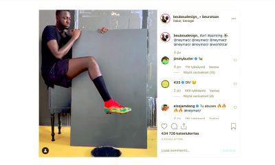 Kaveri maalasi Neymarin kuvan nappulakengällään: uskomatonta jälkeä.
