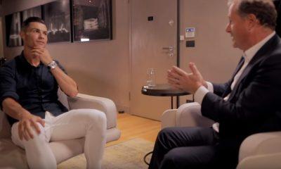 Cristiano Ronaldo avoimena Piers Morganin haastattelussa.