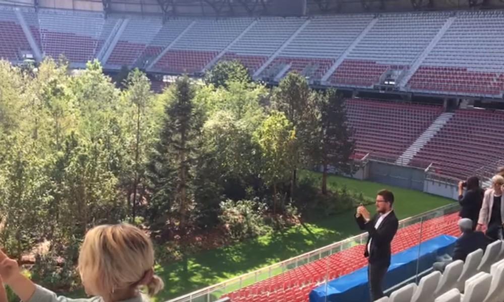 SK Klagenfurt antoi stadioninsa taidenäyttelyn käyttöön.