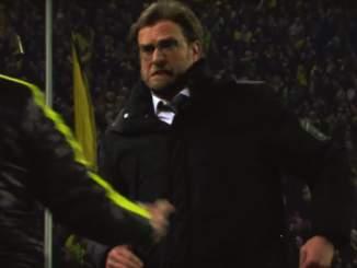 Jürgen Klopp Dortmundin mestaruusjuhlista.