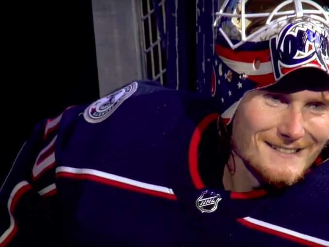 Columbus Blue Jacketsin Joonas Korpisalo pyyhkii Bobrovskylla lattiaa, mitä tulee kahden maalivahdin keskinäiseen vertailuun NHL-kauden 2019-2020 alun osalta.
