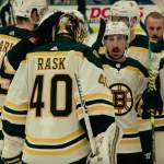 Tuukka Rask teki Maple Leafs -historiaa, Boston Bruinsin paidassa.