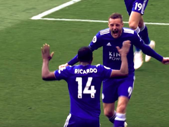 Leicester Cityn Jamie Vardy pelasi alasarjassa vuonna 2012 ja teki Valioliiga-debyyttinsä lähes 28-vuotiaana - nyt hän lähentelee 100 Valioliiga-maalin rajaa.