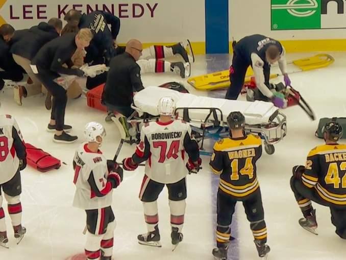 Ottawa Senatorsin Scott Sabourinin järkyttävä loukkaantuminen sai yhteentörmäyksessä toisena osapuolena olleen David Backesin niin järkyttyneeseen tilaan, että hän itki kaukalossa.
