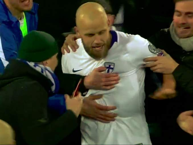 Fanit valtasivat kentän Huuhkajien voitettua ja varmistettua historiallisen EM-kisapaikan Liechtenstein-voitolla!