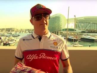 Kimi osti Formula 1:en Secret Santa -leikissä joululahjan Sergio Perezille ja sai itse lahjan Romain Grosjeanilta.