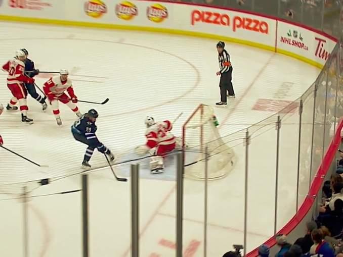 Patrik Laineen pistetehtailu jatkuu: hän iski huikean soolomaalin Detroit Red Wingsin verkkoon.