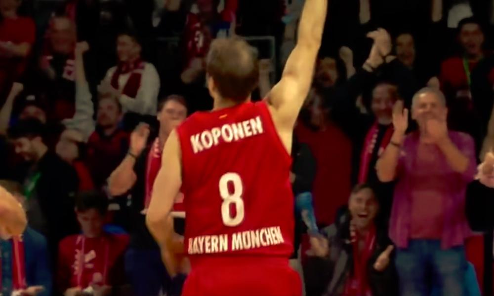 Petteri Koposen kolmonen summerin soidessa tuhosi jättiyllätyksen, kun Bayern nousi pisteen voittoon.