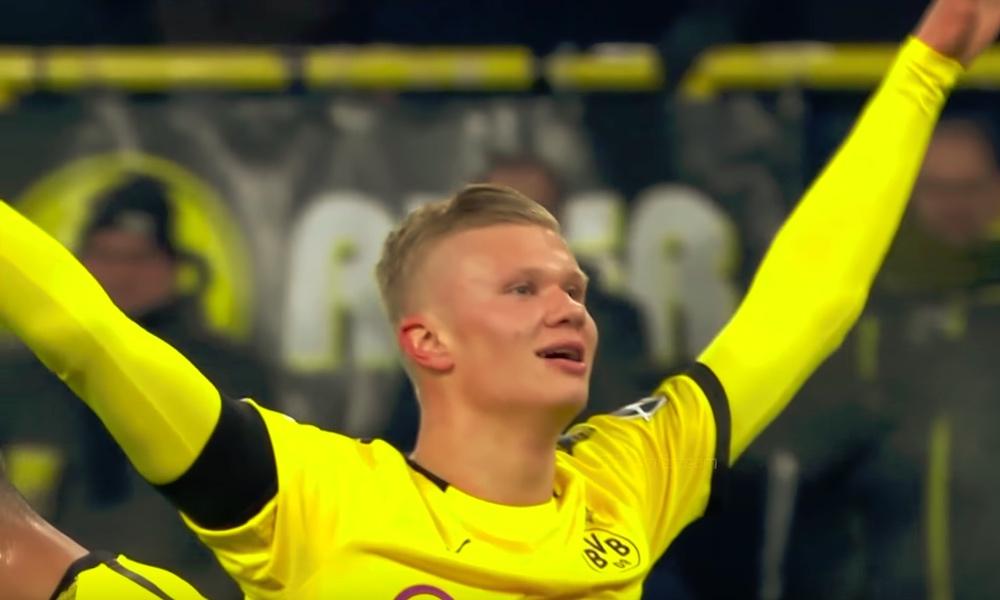 Erling Braud Håland pelannut Dortmundin paidassa 59 minuuttia + lisäajat päälle: viimeistellyt käsittämättömät viisi maalia.