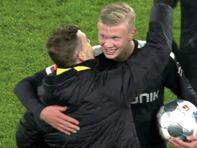Sensaatiomaista kautta pelaava 19-vuotias Erling Braut Håland iski hattutempun Dortmund-debyytissään.
