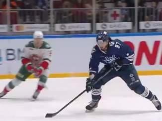 Nikita Korostelyov iski uransa avausmaalin KHL:ssä, kun Admiral Vladivostok kohtasi Ak Bars Kazanin varhain sunnuntaiaamuna.