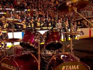 Metallica lahjoitti Tuukka Raskille Lars Ulrichin rumpusetin, jollaista rumpali käyttää parhaillaan meneillään olevalla maailmankiertueella.