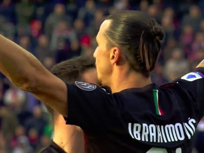 Zlatan palasi AC Milanin avauskokoonpanoon ensimmäistä kertaa lähes kahdeksaan vuoteen ja onnistui välittömästi maalinteossa.