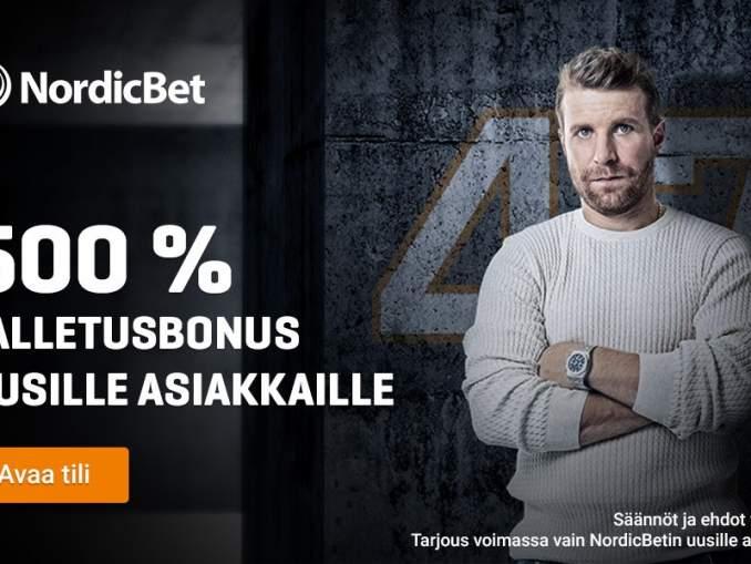 NordicBet tarjoaa nyt markkinoiden kuumimman tervetulobonuksen – tallettamalla 10 euroa pääset pelaamaan jopa 60 eurolla!