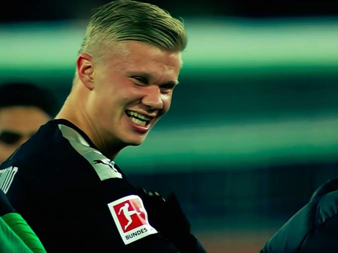 Borussia Dortmundin Erling Brand Hålandista huikea meemi; hän päihittää muun muassa Usain Boltin.