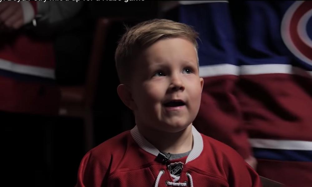 Montrealilta huikea teko - seura mikitti Jeff Petryn pojan pelin ajaksi ja sisältö, mitä pikku poika tuotti, on fantastista.