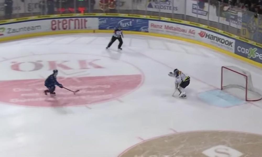 Tässäkö kaikkien aikojen rankkari? Sveitsin liigassa eilisiltana nähtiin mieletön suoritus HC Davosin Mattias Tedenbyn toimesta.