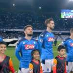 San Paololla raikui Mestarien liigan hymni - upeaa Napoli-fanit.