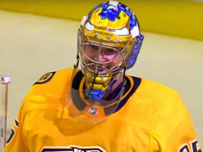 Nashville Predatorsin Pekka Rinteellä on oma intohimoinen pikkufaninsa yleisössä - ikään kuin Kipperillä aikanaan.