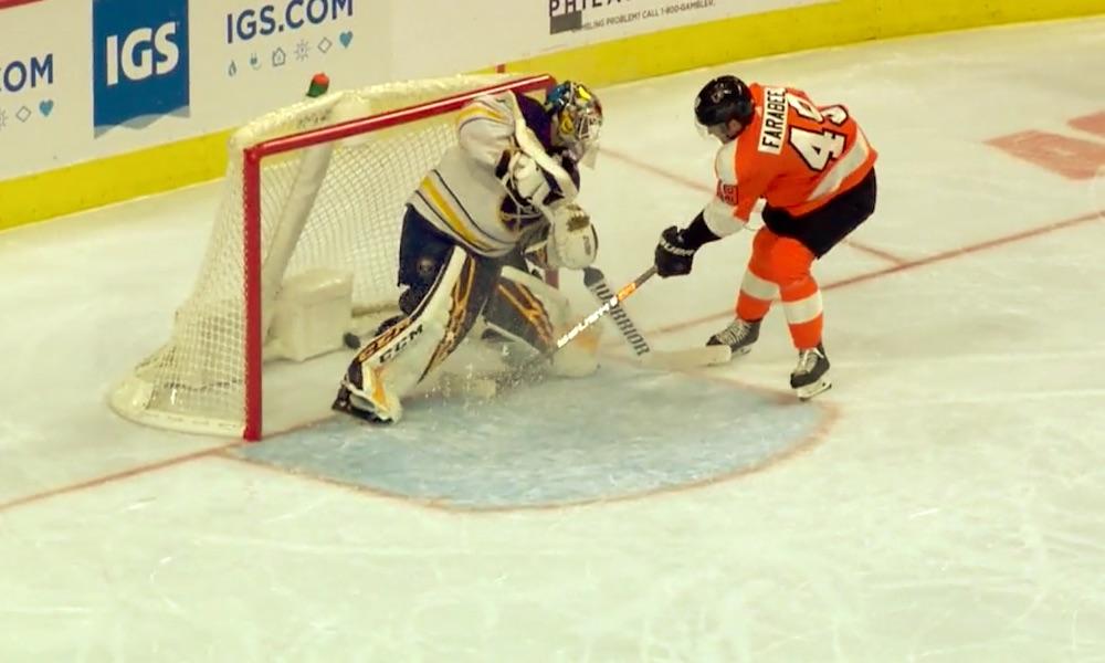 Buffalo Sabresin Ristolainen-Hutton-duolta karmaiseva tunarointi: ratkaiseva maali, joka johti Philadelphia Flyersin voittoon.