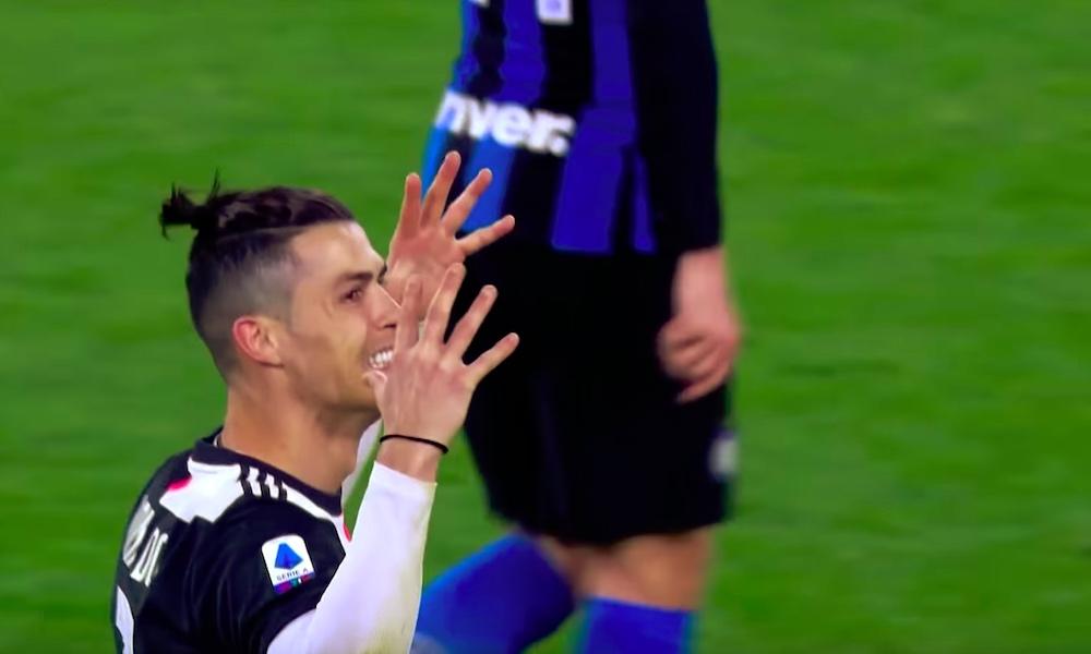 Cristiano Ronaldo heitti ylävitosia näkymättömien fanien kanssa; Juventus-Inter pelattiin koronaviruksen takia tyhjille katsomoille.