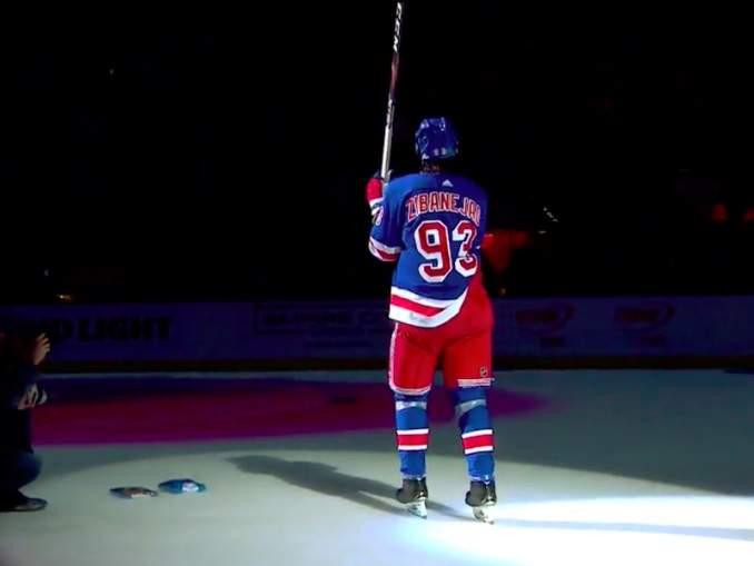 Mika Zibanejad kiskoi kiekon viisi kertaa Washington Capitalsin verkkoon ja hänestä tuli NY Rangersin seurahistoriassa vasta kolmas viiden maalin mies yksittäisten otteluiden osalta.