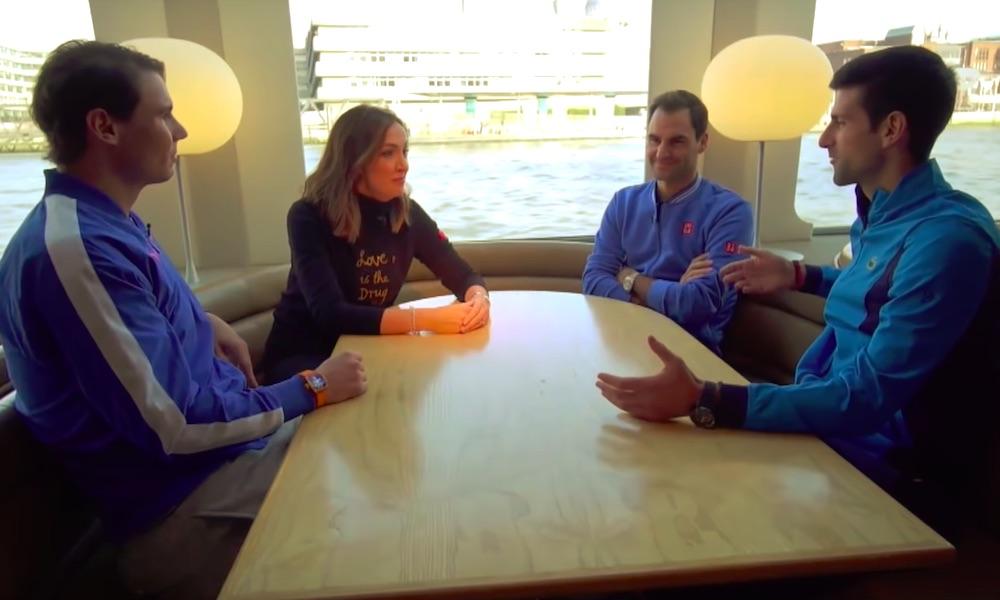 Djokovic, Nadal ja Federer tekevät upeaa työtä koronaviruspandemian keskellä.