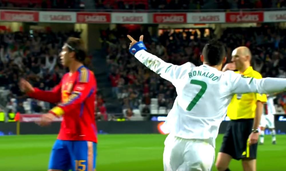 Nani pilasi Cristiano Ronaldon upean maalin.