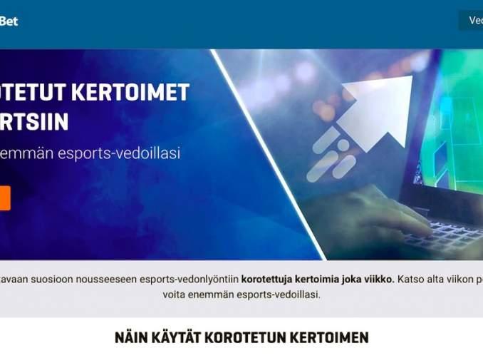 NordicBetilta korotetut kertoimet Esportsiin: huippusuosioon vedonlyöjien keskuudessa nousseeseen Esportsiin on tarjolla korotettuja kertoimia joka viikko.