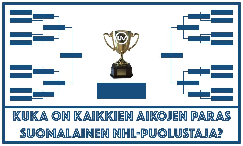 Kuka on kaikkien aikojen paras suomalainen NHL-puolustaja? Se selvitetään Urheiluvedot.com:n äänestyksessä.
