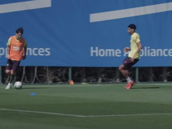 Lionel Messi valmiina kauden jatkumiseen - dominoi harjoituksissa.
